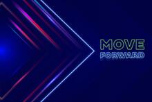 Move Forward Vector Key Visual Design