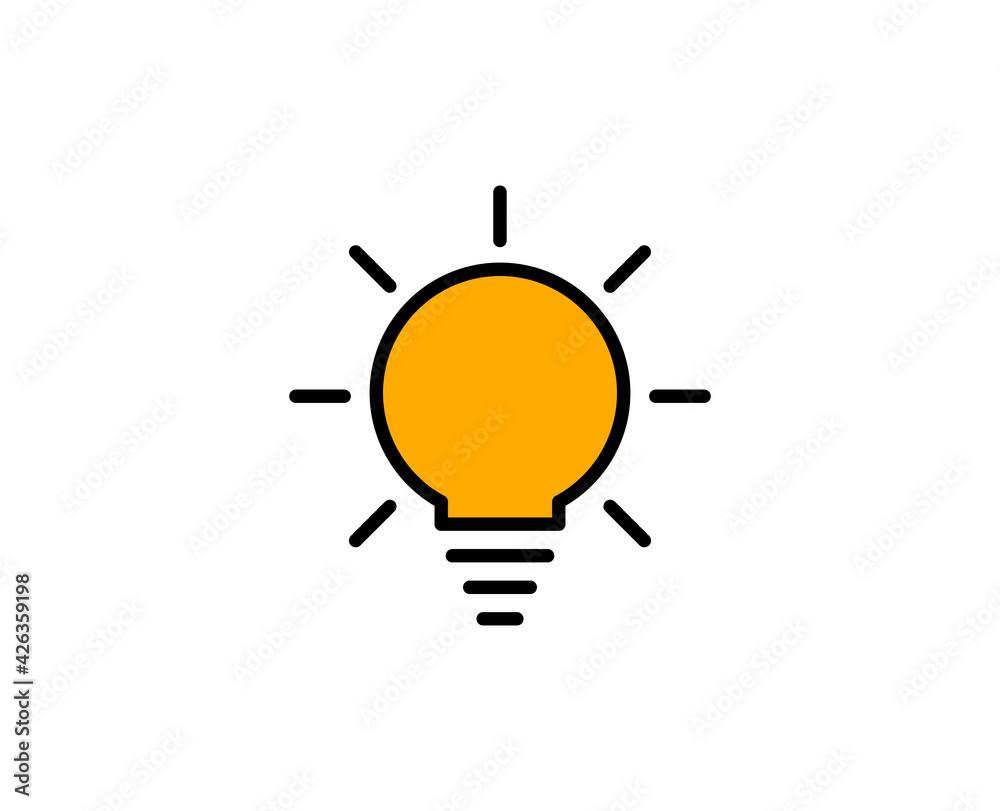 Fototapeta Light bulb premium line icon. Simple high quality pictogram. Modern outline style icons. Stroke vector illustration on a white background.