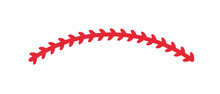 Red Stitches Of Baseball Stitch Design For Baseball Lovers