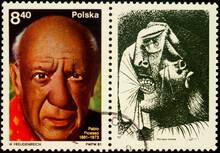 Portrait Of Spanish Painter Pablo Picasso