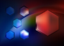 Red Green And Blue Hexagon Shape Background