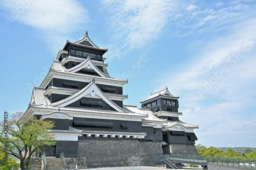 Tableau sur Toile 震災から復旧した熊本城大小天守 熊本県熊本市