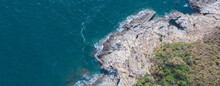 Aerial View Of A Beautiful Rocky Coastline