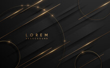Abstract Black And Gold Luxury Background