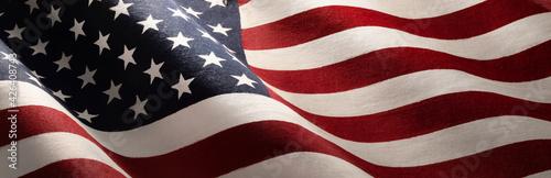 American Wave Flag Backgroun. USA - fototapety na wymiar