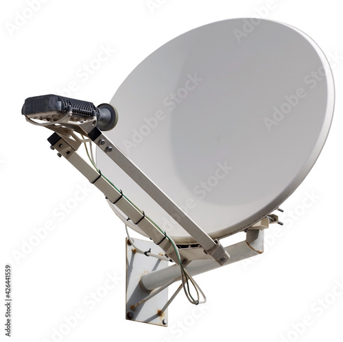 Tablou Canvas satellite dish antenna isolated on white