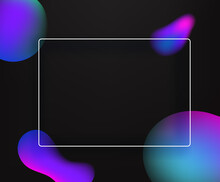 Abstract Vector Background With Color Bubbles And White Frame