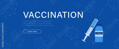 Fotografía Vaccination banner background