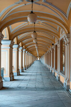 Historical Shopping Gallery Of Gostiny Dvor - A Famous Store In St. Petersburg, Russia