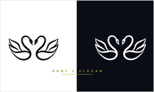 SWAN Logo Simple  Icon Template Vector