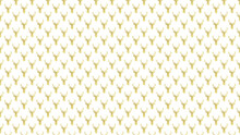 Abstract Seamless Golden Deer Head With Antler  Pattern On White Color Background
