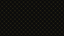 Abstract Seamless Mini Golden Heart Pattern On Black Color Background