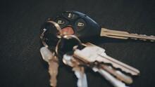 4k - Car Keys Panning