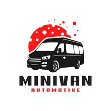 Minivan Transport Car Logo