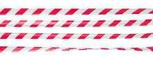 Realistic Vector Crime Tape With White And Red Stripes. Warning Ribbon.