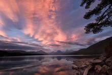 Lake McDonald At Sunset;  Glacier NP;  Montana