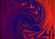 Red And Blue Fluid Color Twister Texture Background Illustration