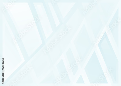 Stampa su Tela Blue and White Geometric Abstract Background Vector