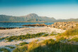 canvas print picture Beautiful landscape, Norwegian fjords at sunrise. The beauty of northern nature and the Lofoten islands