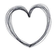 Heart Hand Drawn Illustration,art Design
