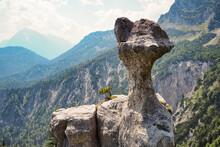 Steinerne Agnes Rock Formation At Berchtesgaden Alps, Bavaria, Germany