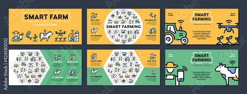 Photo Vector Smart Farm Agriculture Banner Set