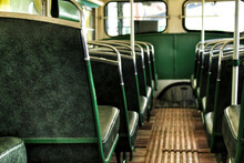 Old And Rusty Inside Passenger Bus