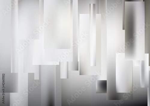 Canvas Print Abstract Grey and White Geometric Shapes Background Design