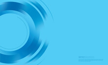 Abstract Blue Circle Background Vector Illustration