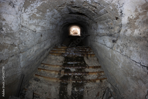 Fototapeta abandoned tunnels in the mine obraz