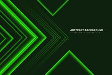 Abstract Green Arrow Light Speed Technology On Black Design Modern Futuristic Background Vector Illustration.