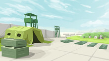 Big Military Training Base Green Color