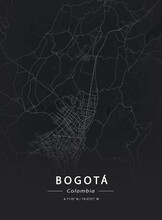 Map Of Bogota, Colombia