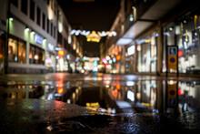Scandinavian Winter Night Before The Funny Christmas