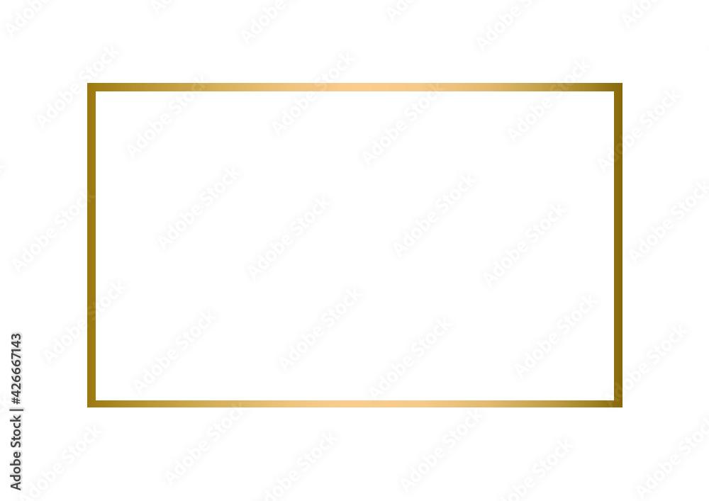 Fototapeta złota rama, złoty element, złoty kolor, ramka