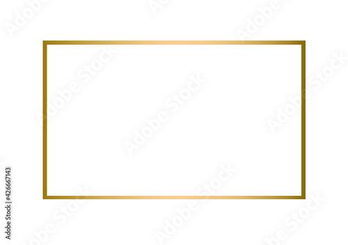 Fototapeta złota rama, złoty element, złoty kolor, ramka  obraz