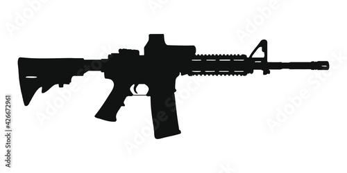Obraz na plátně M4 assault rifle silhouette