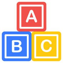 Editable Flat Design Vector Of Abc Blocks