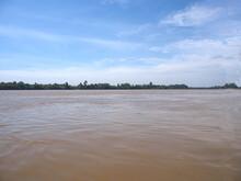 The  Mekong River(Song Si River) View At Khong Chiam In Ubon Ratchathani, Thailand