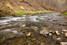 Whitewater River In The Woods During Spring