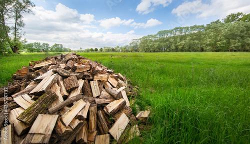 Valokuva stack of firewood