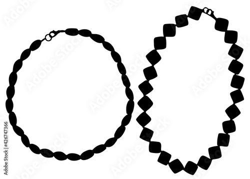 Womens necklace set. Jewelry for women. Fototapeta