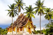 Famous Royal Palace Museum In Luang Prabang, Landmark In Laos.