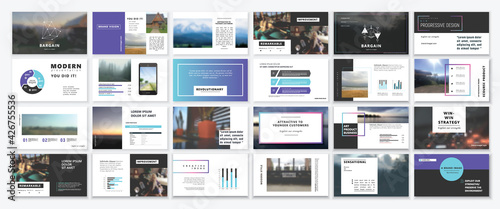 Fotografie, Obraz Original Presentation templates or corporate booklet