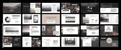 Obraz na plátně Original Presentation templates or corporate booklet