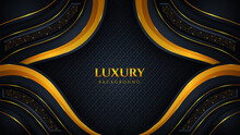 Modern Luxury Background With Shiny Gold Color Glitter And Luxurious Glow Effect