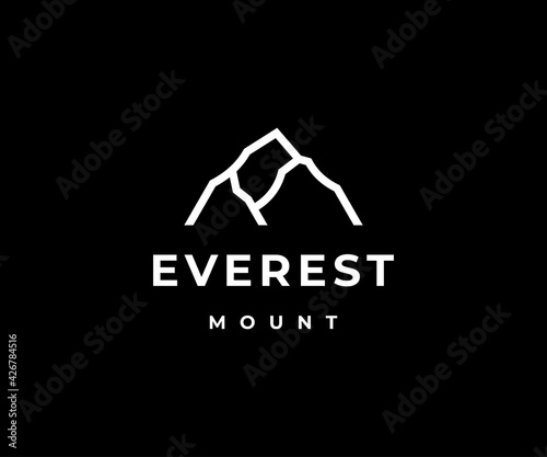 Fotografija Everest logo icon vector illustration