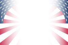 Spiral Effect Red White Blue American Flag Border Background Illustration