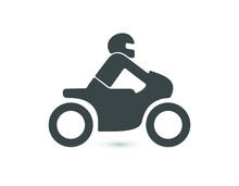 Motorcycle Icon. Vehicle Symbol Modern, Simple, Vector, Icon For Website Design, Mobile App, Ui. Vector Illustration
