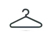 Clothes Hanger Icon In Vector. Logotype